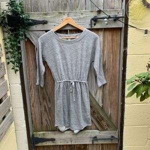 Old Navy Heather Grey Drawstring Waist Dress/Tunic